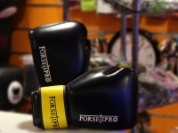 Forseti Pro Boxing Gloves - Black/Yellow