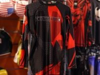 Forseti Pro Rash Guard L/S Caged - Red/Black